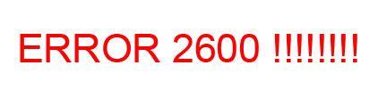 Error 2600 Facturae