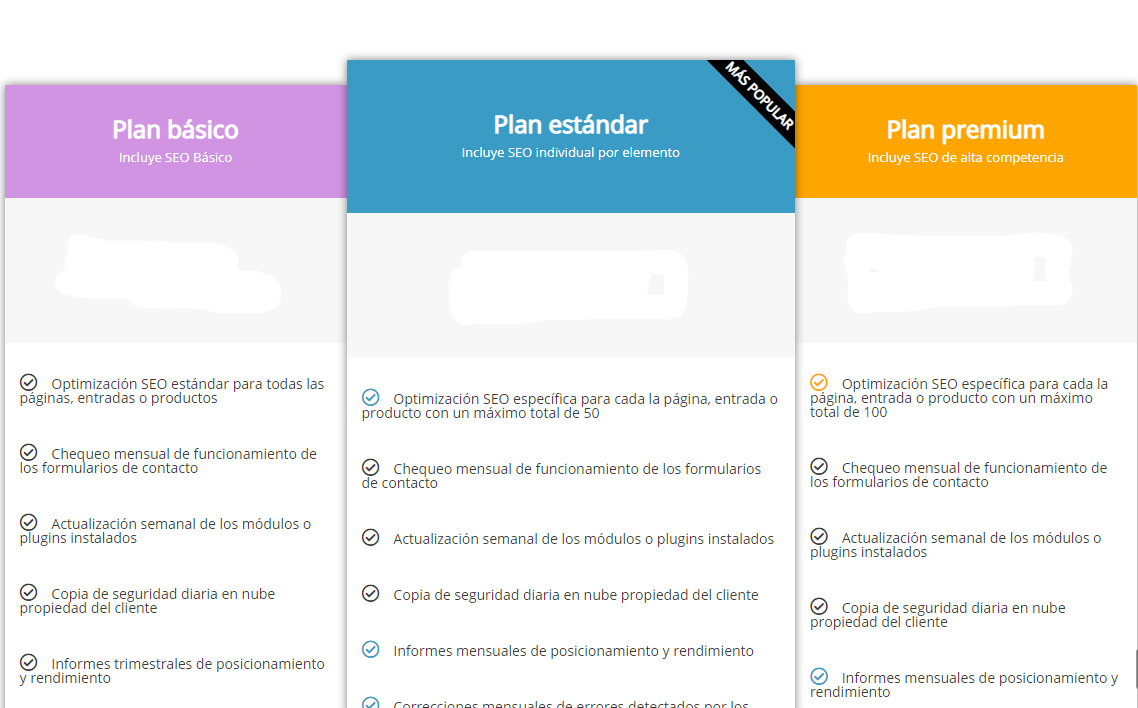 Desarrollo de páginas web y tiendas online - Informaticademadrid - Planes mantenimiento web