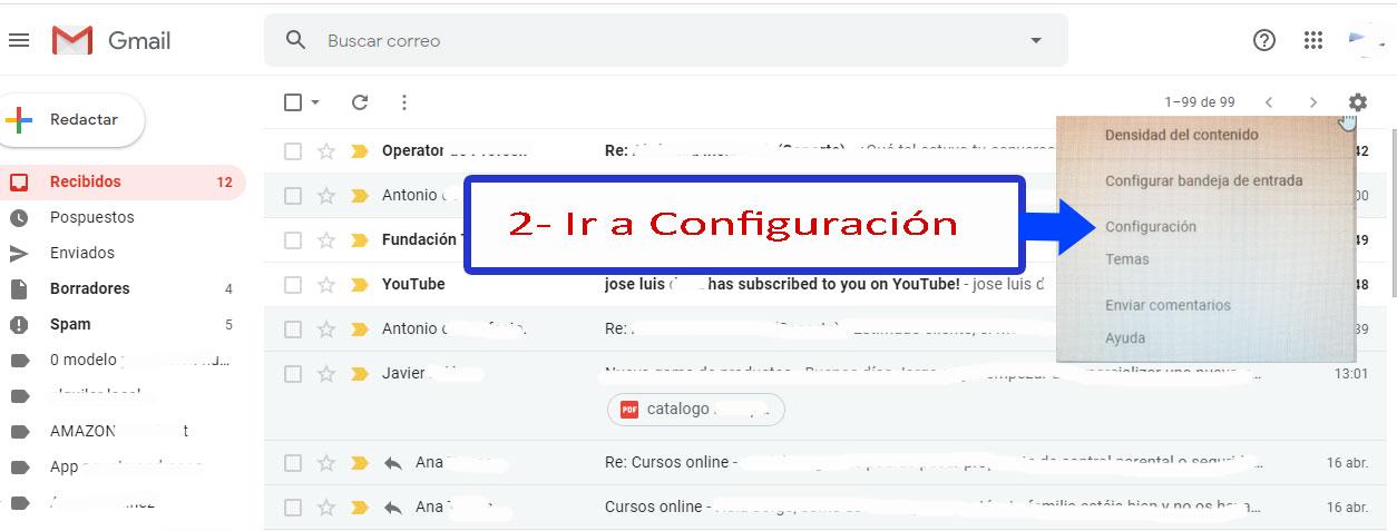 Desarrollo de páginas web y tiendas online - Informaticademadrid - Configurar Enviar como en Gmail-2