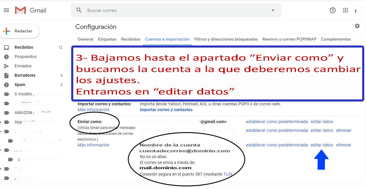 Desarrollo de páginas web y tiendas online - Informaticademadrid - Configurar Enviar como en Gmail-3