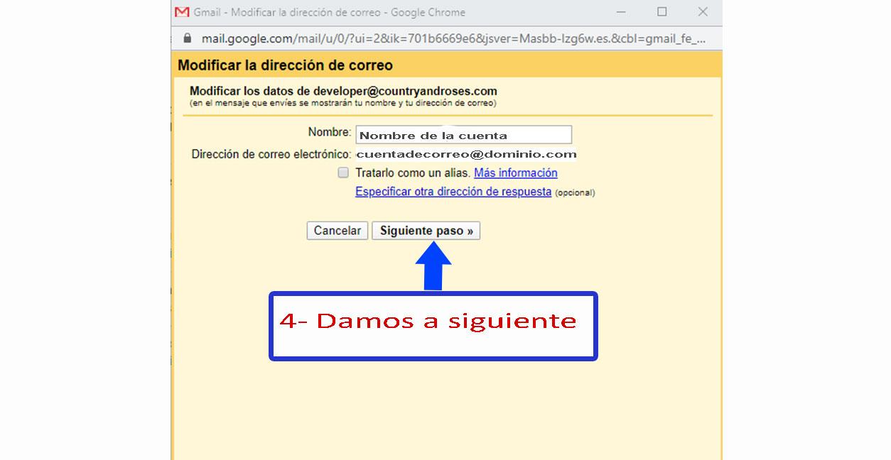 Desarrollo de páginas web y tiendas online - Informaticademadrid - Configurar Enviar como en Gmail-4